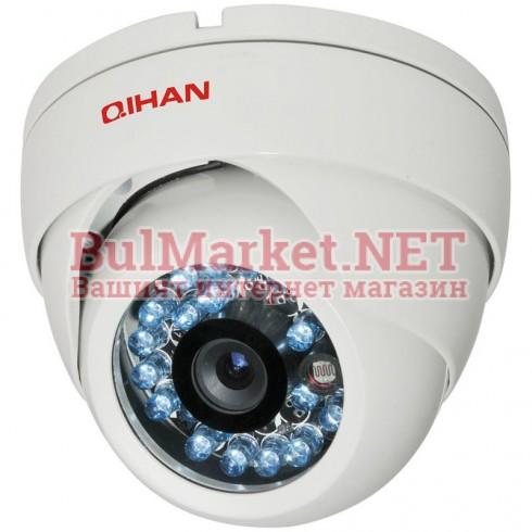 """Аналогова камера, куполна, 1/3"""" HDIS, 850L, IR-25м, 3.6mm  QH-126C-5"""