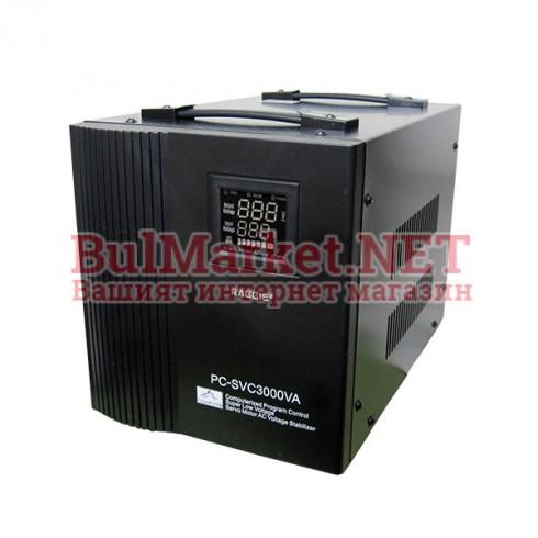 Стабилизатор на напрежение със сервомотор 3000VA / 220V