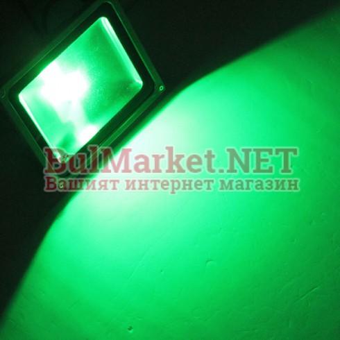 LED прожектор - зелен 50W/ 220V