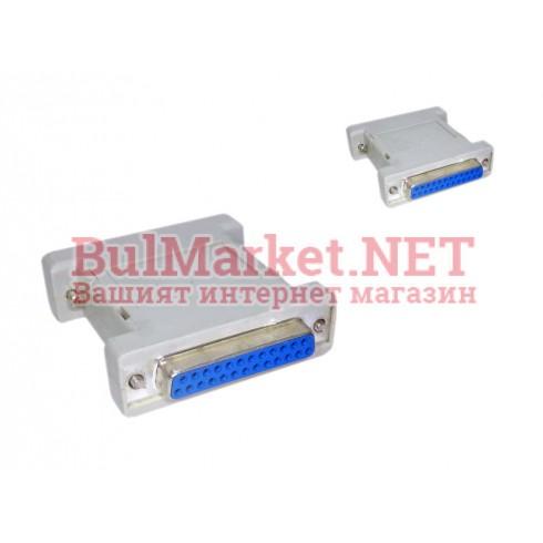 Адаптер преход RS232 DB25 pin F - RS232 DB25 pin F