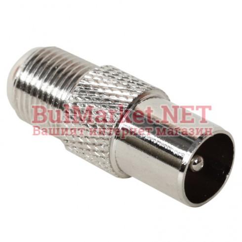 ТВ конектор за коаксиален кабел с винт (мъжки)
